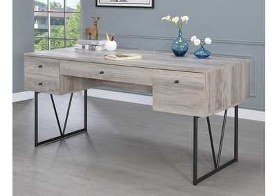 Grey Driftwood Industrial Grey Driftwood Writing Desk