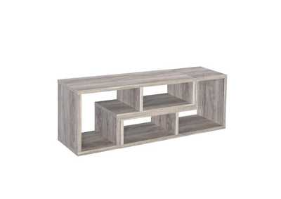 Image for Grey Driftwood Contemporary Grey Driftwood Convertible TV Stand and Bookcase