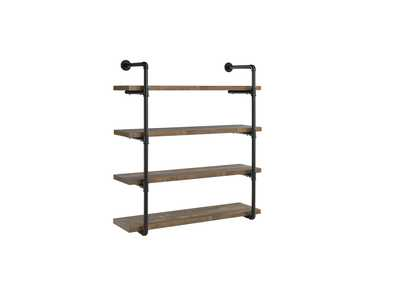 "Image for Rustic Oak 40""w Wall Shelf"