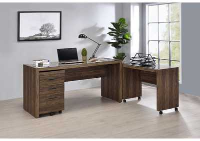 Image for Luetta 3-Piece Office Desk Set Aged Walnut