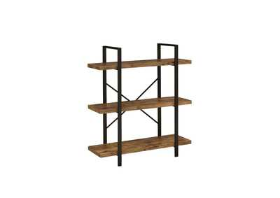 Image for Antique Nutmeg 3-Shelf Bookcase