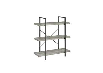 Image for Grey Driftwood 3-Shelf Bookcase