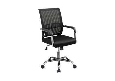 Image for Eerie Black Contemporary Black Mesh Back Office Chair