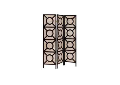Image for Tan Transitional Cappuccino Folding Screen