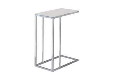 Swiss Coffee Transitional Chrome Snack Table