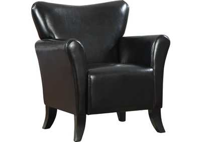 Eerie Black Casual Black Accent Chair,Coaster Furniture