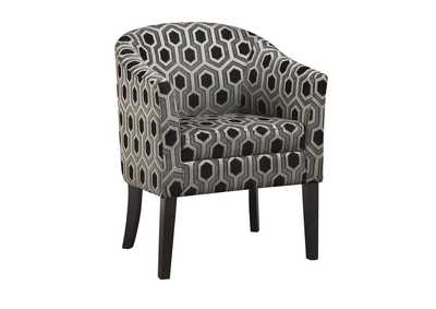 Eerie Black Charlotte Hexagon Print Accent Chair