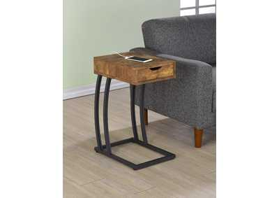 Antique Nutmeg Industrial Antique Nutmeg Accent Table