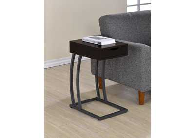 Cappuccino Industrial Cappuccino Accent Table