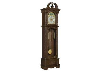 English Walnut Traditional Brown Grandfather Clock