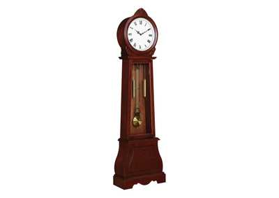 Van Cleef Transitional Brown Grandfather Clock