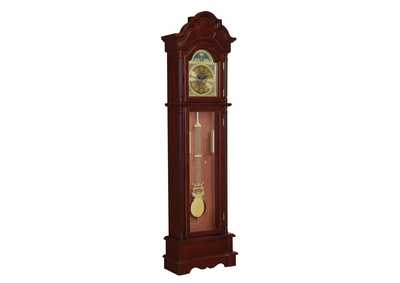 Paco Traditional Brown Red Grandfather Clock