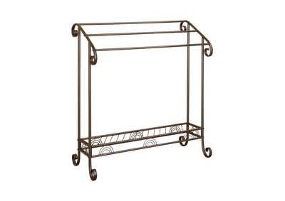 Dark Bronze Traditional Dark Brown Metal Towel Rack