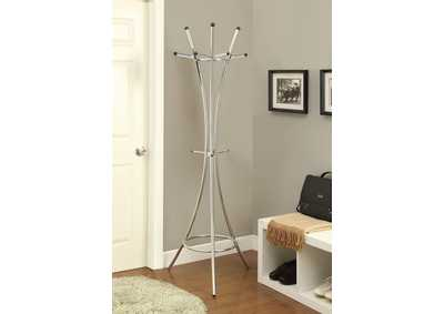 Cultured Pearl Contemporary Cappuccino Coat Rack