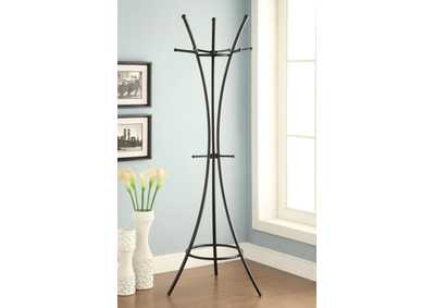 Cultured Pearl Modern Black Metal Coat Rack