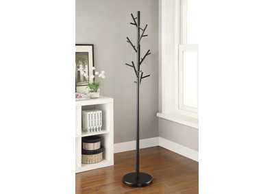 Tide Contemporary Black Coat Rack