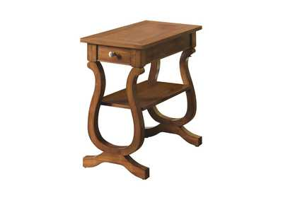 Cherry Transitional Cherry Accent Table