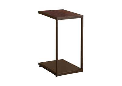 Image for Cappuccino High Gloss Contemporary Brown Snack Table