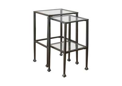 Black Transitional Black Nesting Table
