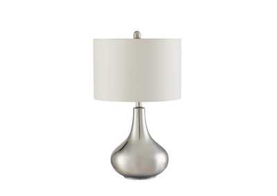 Silver Contemporary Chrome Table Lamp