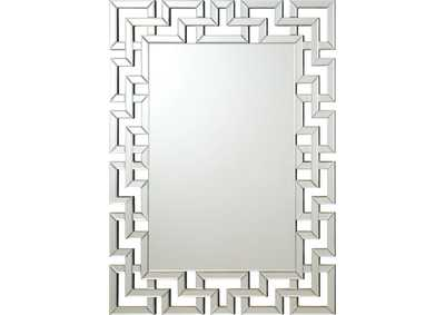 Greek Key Frameless Mirror