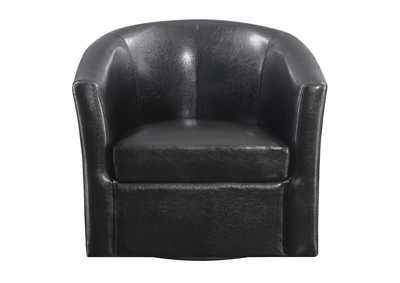 Eerie Black Contemporary Dark Brown Accent Chair,Coaster Furniture