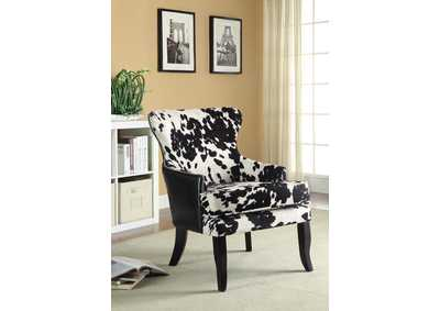 Cappuccino Traditional Black and White Accent Chair,Coaster Furniture