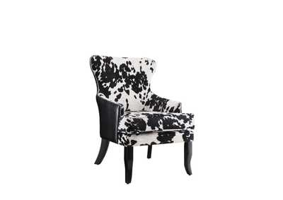 Cappuccino Traditional Black and White Accent Chair