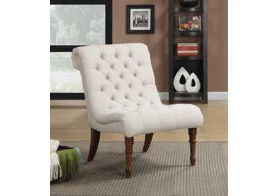 Light Brown Traditional Oatmeal Slipper Chair,Coaster Furniture