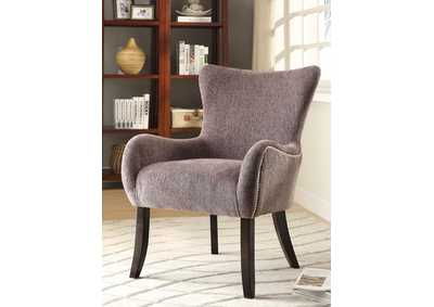 Espresso Traditional Grey Accent Chair,Coaster Furniture