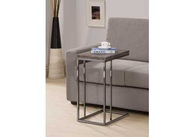 Black Nickel Transitional Black Nickel Snack Table,Coaster Furniture