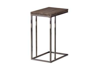 Black Nickel Transitional Black Nickel Snack Table