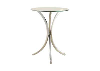 Image for Chrome Contemporary Chrome Snack Table