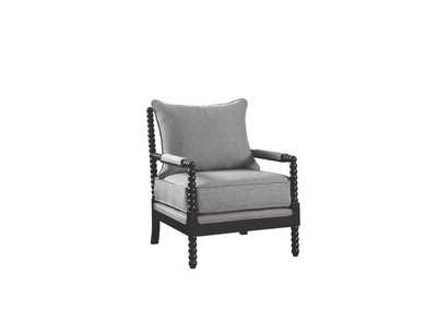 Cappuccino Traditional Grey and Cappuccino Accent Chair