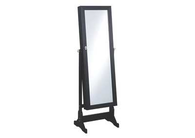 Black Jewelry Cheval Mirror