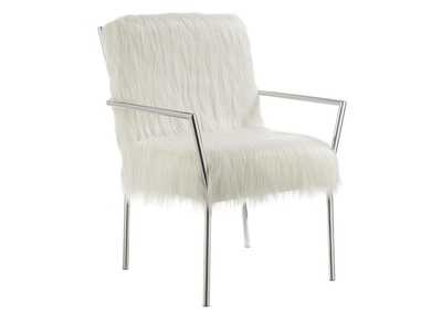 Swirl Contemporary White Accent Chair