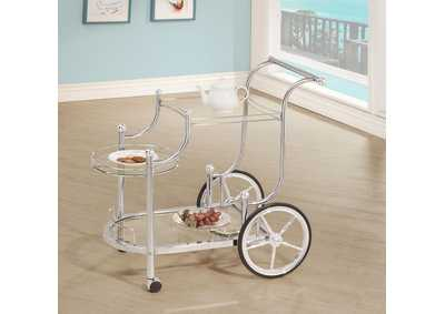 Ebb Traditional Chrome Serving Cart