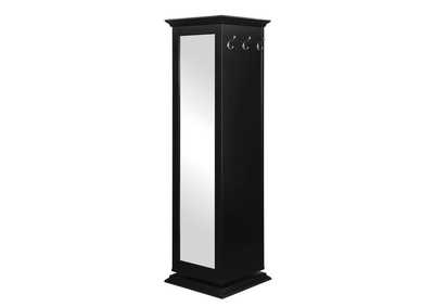 Eerie Black Casual Black Accent Cabinet