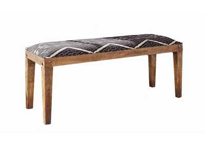 Quick Silver Bohemian Upholstered Dining Bench