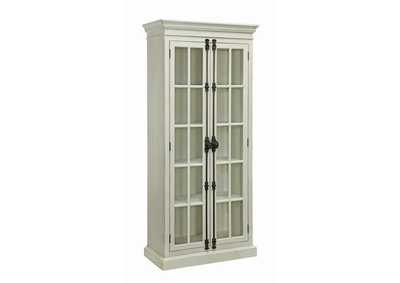 Image for Antique White Traditional Antique White Tall Cabinet