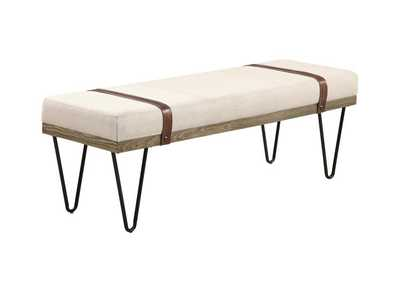 Image for Beige Upholstered Bench