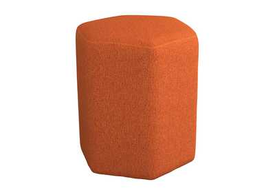 Image for Hexagonal Upholstered Stool Orange
