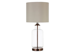 Image for Clear Transitional Clear and Bronze Table Lamp