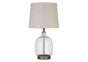 Image for Silver Rust Transitional Clear Table Lamp