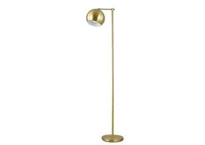 Indian Khaki Modern Brass Floor Lamp
