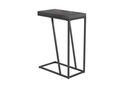 Image for Rustic Grey Herringbone Accent Table