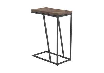 Image for Rustic Tobacco Herringbone Accent Table