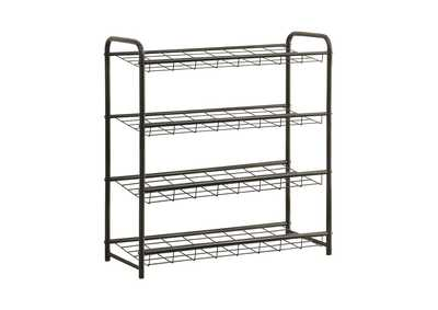 Black Transitional Black Shoe Rack