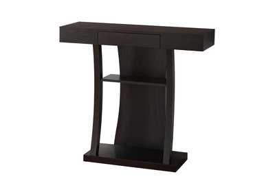 Cappuccino Contemporary Cappuccino Console Table