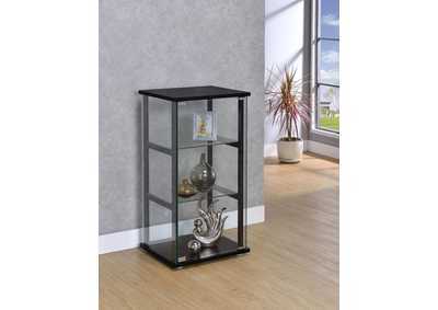 Image for Black Contemporary Black and Glass Curio Cabinet